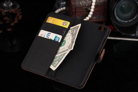 iPhone 6S / 6 Leder Etui Tasche Hülle Kartenfach BRAUN – Bild 3