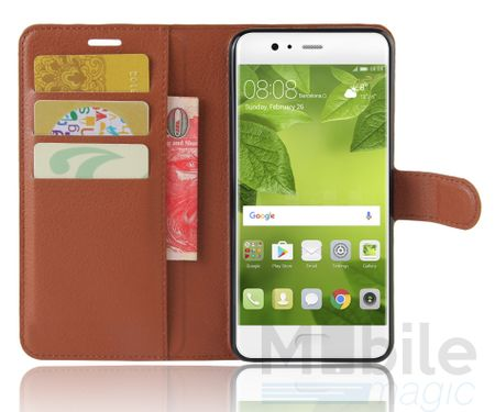 Huawei Honor 6X Flip Etui Leder Case Tasche Hülle mit Kartenfach BRAUN – Bild 3