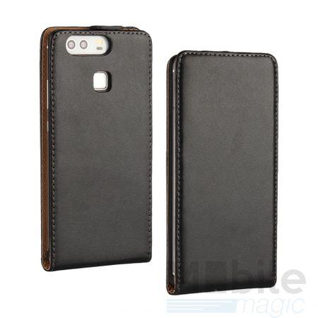 Huawei Honor 6X Leder Flip Case Cover Etui Tasche Vertikal Hülle SCHWARZ – Bild 1