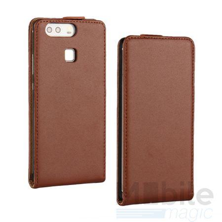 Huawei Honor 6X Leder Flip Case Cover Etui Tasche Vertikal Hülle BRAUN – Bild 1