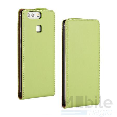 Huawei Honor 6X Leder Flip Case Cover Etui Tasche Vertikal Hülle GRÜN – Bild 1