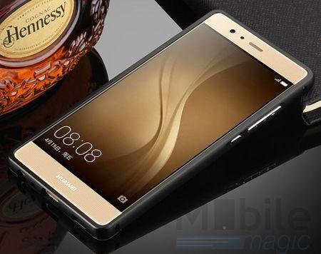 Huawei Honor 6X Alu-Bumper Mirror mit Spiegel-Rücken Metall Bumper Case Hülle Aluminium SCHWARZ – Bild 3