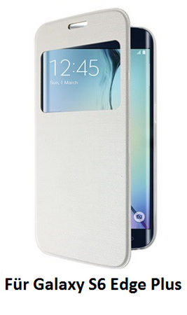 Samsung Galaxy S6 Edge Plus Window View Etui Cover Case Hülle WEISS