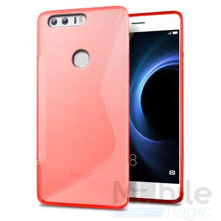 Huawei Honor 6X S-Line TPU Gummi Silikon Case Welle Hülle ROT – Bild 1