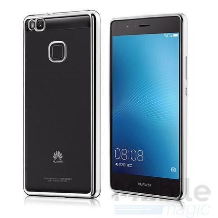 Huawei Honor 6X Metallic Gummi TPU Silikon Case Hülle Schutzhülle Cover Klar SILBER
