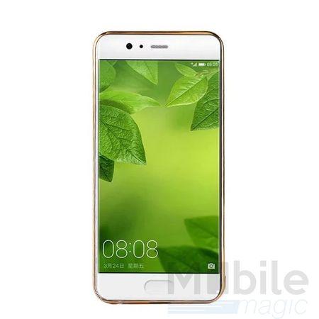 Huawei Honor 6X TPU Hülle mit 3D Leder-Optik Design Metallic Gummi Silikon Case Schutzhülle Cover SCHWARZ – Bild 4