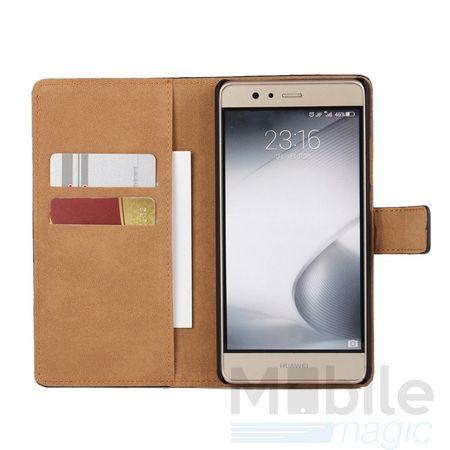 LG G6 / G6+ Luxus Leder Etui Case mit Kartenfach Flip Tasche Hülle BRAUN – Bild 3