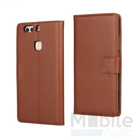LG G6 / G6+ Luxus Leder Etui Case mit Kartenfach Flip Tasche Hülle BRAUN – Bild 1
