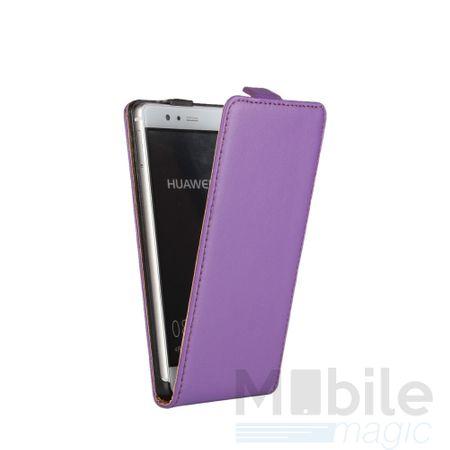 LG G6 / G6+ Leder Flip Case Cover Etui Tasche Vertikal Hülle VIOLETT / LILA – Bild 2