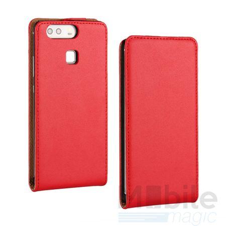 LG G6 / G6+ Leder Flip Case Cover Etui Tasche Vertikal Hülle ROT – Bild 1