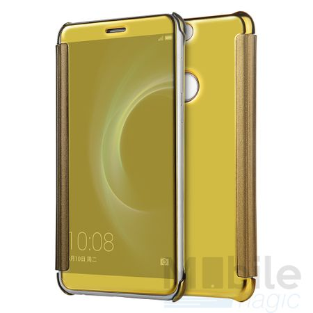 LG G6 / G6+ Clear Window View Case Cover Spiegel Mirror Hülle GOLD – Bild 2