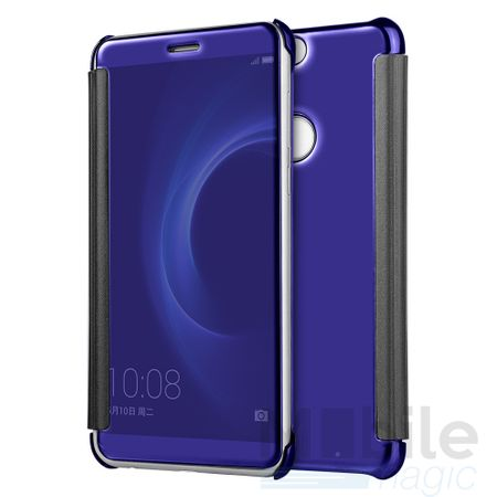 LG G6 / G6+ Clear Window View Case Cover Spiegel Mirror Hülle BLAU – Bild 2