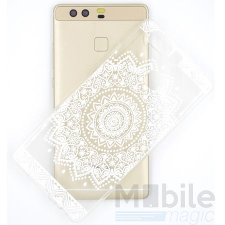 LG G6 / G6+ Indian Mandala Gummi TPU Silikon Case Hülle TRANSPARENT WEISS – Bild 2