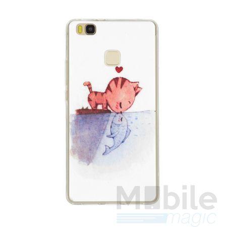 LG G6 / G6+ Katze Case Fisch Gummi Hülle TPU Silikon Kiss Cover – Bild 1