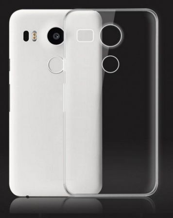 LG ( Google ) Nexus 5X Gummi TPU Silikon Crystal Clear Case Cover Hülle TRANSPARENT Klar – Bild 1
