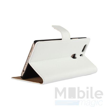 Lenovo P2 Luxus Leder Etui Case mit Kartenfach Flip Tasche Hülle WEISS – Bild 2