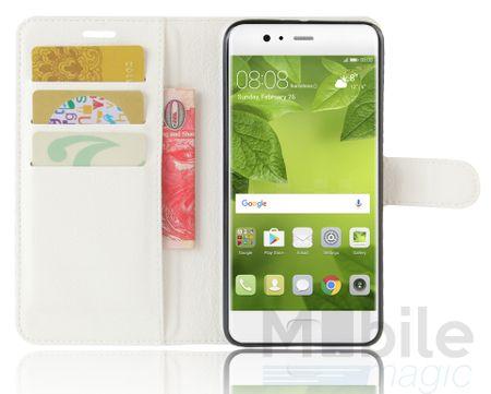 Lenovo P2 Flip Etui Leder Case Tasche Hülle mit Kartenfach WEISS – Bild 3