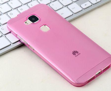 Huawei GX8 Gummi TPU Silikon Clear Case Cover Hülle TRANSPARENT PINK Rosa – Bild 2