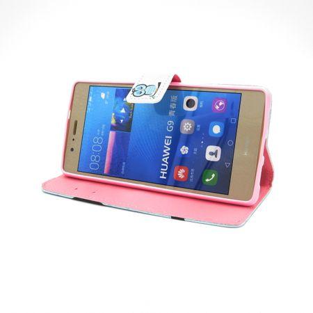 Galaxy A5 2017 Leder Etui Eule Tasche Hülle Flip Cover Case PINK / ROSA – Bild 2