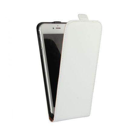 iPhone 7 Plus Leder Flip Case Cover Etui Tasche Vertikal Hülle WEISS – Bild 2