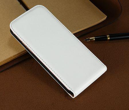 iPhone 7 Plus Leder Flip Case Cover Etui Tasche Vertikal Hülle WEISS – Bild 3