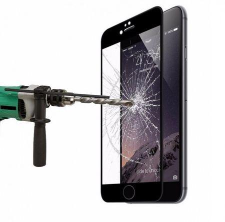 iPhone 6S / 6 Randlos PANZERGLAS Abgerundetes Tempered Glass Glas Schutzfolie SCHWARZ – Bild 1