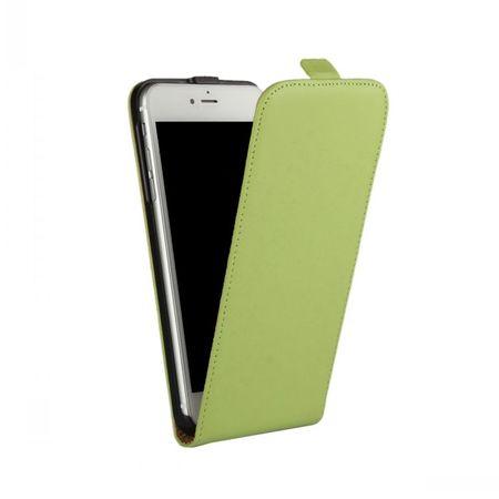 iPhone 7 Plus Leder Flip Case Cover Etui Tasche Vertikal Hülle GRÜN – Bild 2