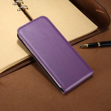 iPhone 7 Plus Leder Flip Case Cover Etui Tasche Vertikal Hülle VIOLETT / LILA – Bild 3