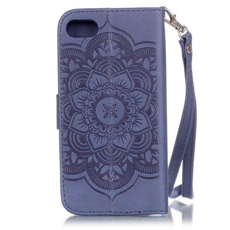 iPhone 6S Plus / 6 Plus Traumfänger Leder Etui Glitzer Tasche Hülle BLAU – Bild 2