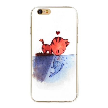 iPhone 7 Plus Katze Case Fisch Gummi Hülle TPU Silikon Kiss Cover – Bild 1
