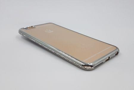 iPhone 7 Plus TPU Gummi Hülle Klar Silikon Crystal Clear Case Glitzer Strass TRANSPARENT – Bild 1