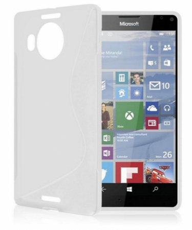 Microsoft Lumia 950 XL S-Line Gummi TPU Silikon Case Transparent  – Bild 2
