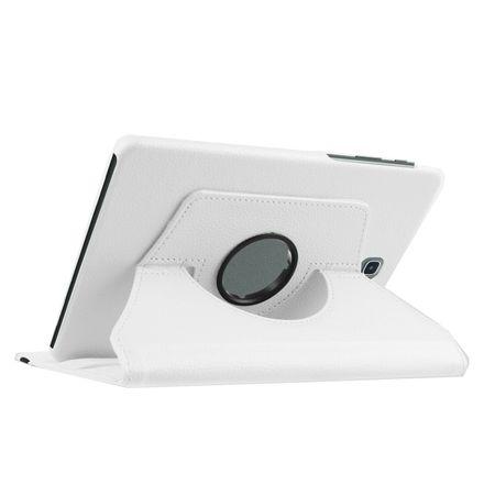 Samsung Galaxy Tab A 10.1 P580 P585 S-Pen 360° Flip Etui Leder Smart Case Tasche Hülle WEISS – Bild 2