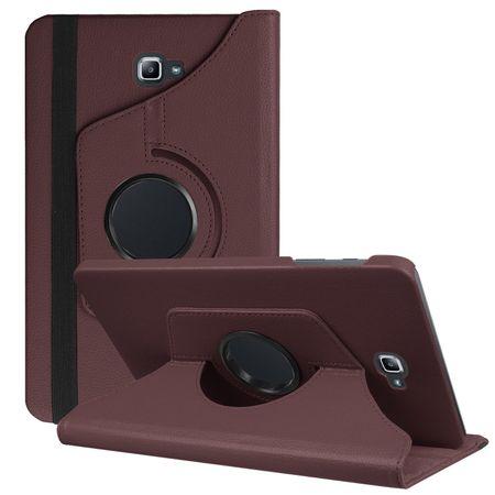 Samsung Galaxy Tab A 10.1 P580 P585 S-Pen 360° Flip Etui Leder Smart Case Tasche Hülle BRAUN – Bild 1