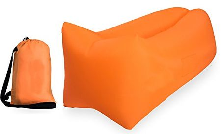 AirSofa PREMIUM Air Luftsofa Laybag Lounge in ORANGE – Bild 5