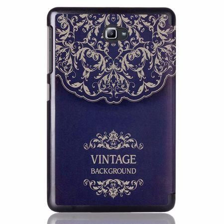 Samsung Galaxy Tab S3 9.7 Smart Etui Leder Hülle Case Tasche VINTAGE Blau – Bild 3
