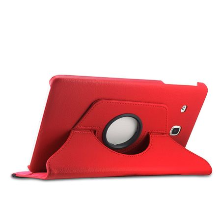 Samsung Galaxy Tab S3 9.7 360° Flip Etui Leder Smart Case Tasche Hülle ROT – Bild 4
