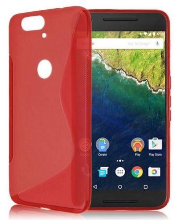 Huawei Google Nexus 6P Google  S-Line Gummi TPU Silikon Case ROT