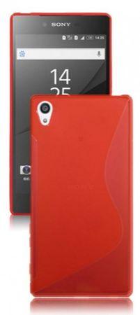 Sony Xperia Z5  S-Line Gummi TPU Silikon Case ROT Transparent – Bild 1