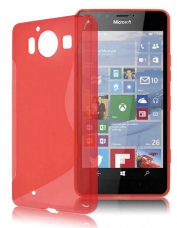 Microsoft Lumia 950 S-Line Gummi TPU Silikon Case ROT