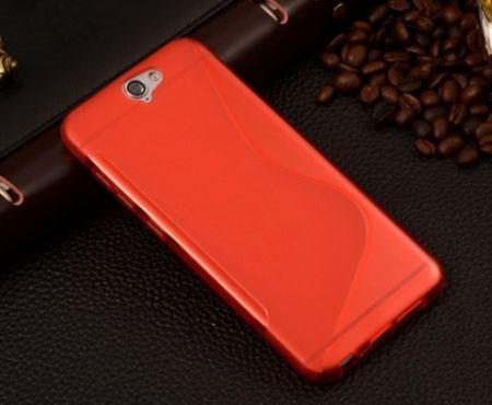 HTC One A9 S-Line Gummi TPU Silikon Case ROT – Bild 2