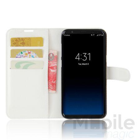 Samsung Galaxy A5 2017 Flip Etui Leder Case Tasche Hülle mit Kartenfach WEISS – Bild 2