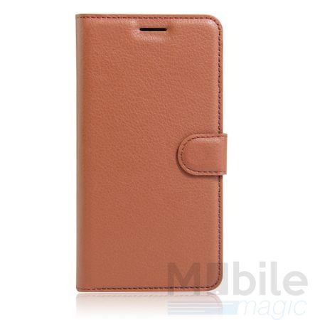 Samsung Galaxy A3 2017 Flip Etui Leder Case Tasche Hülle mit Kartenfach BRAUN – Bild 3