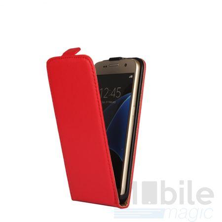 Samsung Galaxy A5 2017 Leder Flip Case Cover Etui Tasche Vertikal Hülle ROT – Bild 2