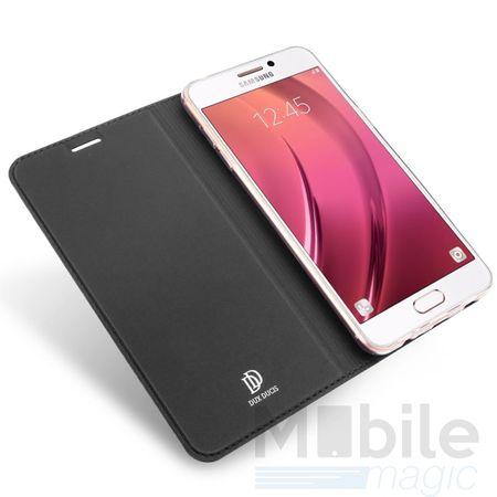 Samsung Galaxy A3 2017 DUX DUCIS Flip Etui Leder Case Tasche Hülle mit Kartenfach SCHWARZ – Bild 4