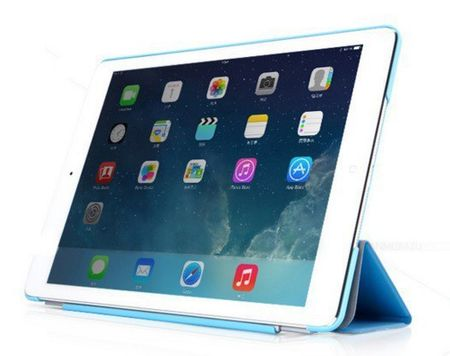 iPad mini 1 / 2 / 3  Smart Case + Back Cover ( Vorder & Hinterseite) in BLAU Sky-blue Retina – Bild 2