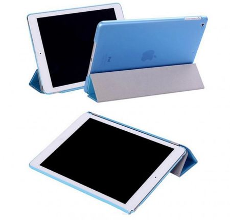 iPad mini 1 / 2 / 3  Smart Case + Back Cover ( Vorder & Hinterseite) in BLAU Sky-blue Retina – Bild 3
