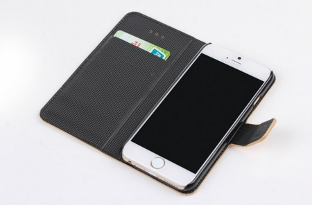 iPhone 6S / 6 Leder Etui Tasche MAP Karte Etui BRAUN – Bild 5