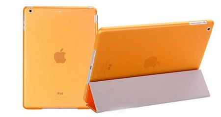 "iPad PRO 12.9"" Smart Case + Back Cover ( Vorder & Hinterseite) in ORANGE – Bild 3"