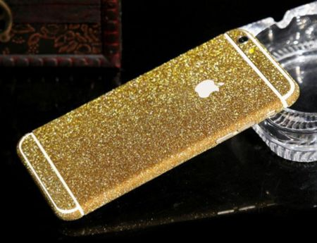 "iPhone 6S / 6 Full-Body Glitzer Sticker Skin in GOLD 4.7"" – Bild 1"